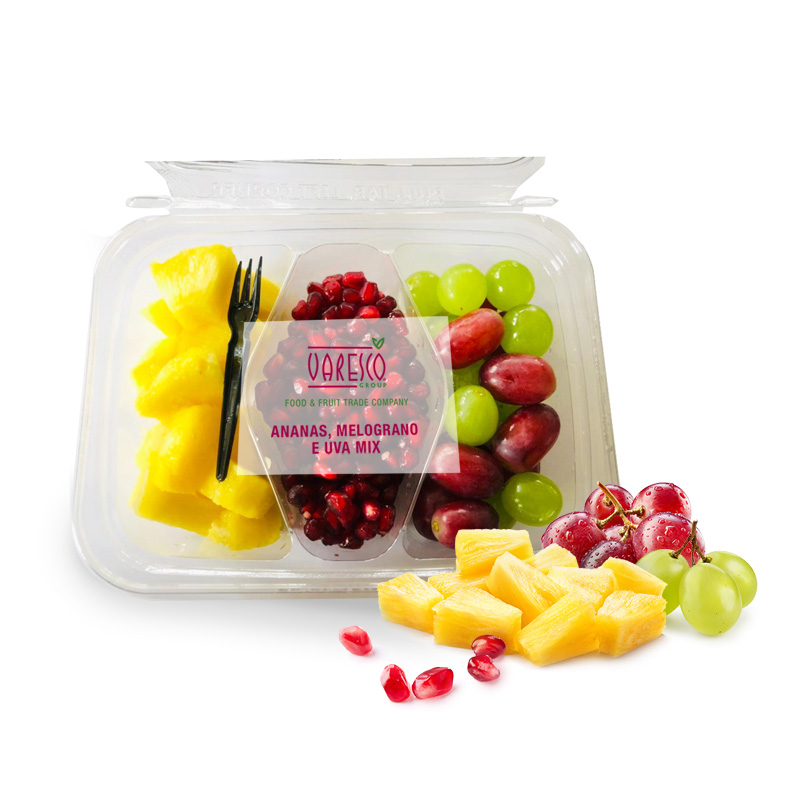 Pineapple, pomegranate and grape mix